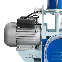 Pompe À Vide De Vaches Laitières De Machine À Traire Électrique + Baril De Seau De 25l Withwheel