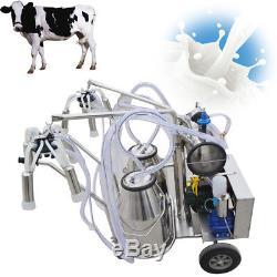 Pompe À Vide Électrique De Machine À Traire De Trayeuse De Double Réservoir Pour La Vache 220v / 110v De Ferme