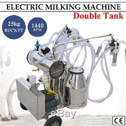 Pompe À Vide Électrique De Milker De Machine À Traire De Milker De Double De Réservoir Des Etats-unis Pour La Ferme De Vaches