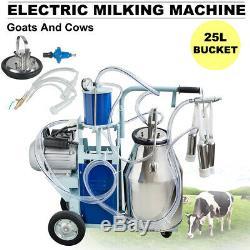 Pompe À Vide Électrique De Piston De Roues De Seau De Machine À Traire Électrique De 25l Pour Des Vaches Fda De Chèvres