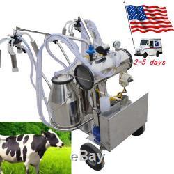 Pompe À Vide Électrique De Trayeuse De Trayeuse De Double De Milker De Réservoir Durable Pour Des Vaches