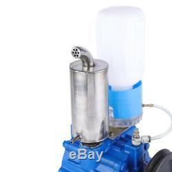 Pompe À Vide Pour Vache Machine Milker Seau Traire Réservoir Baril 250l / Min Us Stock
