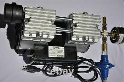 Pompe À Vide Sans Huile Twin Piston 5.5cfm Co Withgoat Milker/pulsator Hookup + Interrupteur