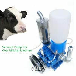 Pompe À Vide Vache Seau Machine Traire Baril Réservoir 250 L / Min Avec Poulie De Ceinture