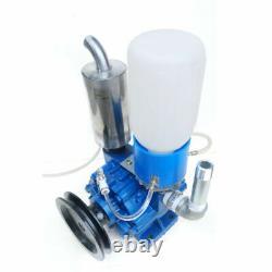 Portable Cow Milking Machine Vacuum Pump Cow Sheep Milker Bucket Tank Barrel États-unis