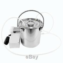 Portable Électrique Machine 5l Réservoir Traire Bovin Milker Barrel Ferme Moteur