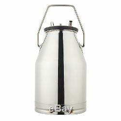 Portable Vache Milker En Acier Inoxydable Seau Réservoir Traire Barrel Nouveau