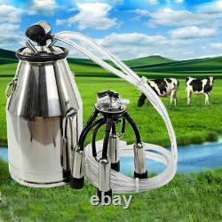 Portatif 304# Baril De Réservoir De Réservoir De Machine À Traire De Vache En Acier Inoxydable
