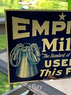 Rare Antique Signe Milker Signe Traite Lait Traire Laiterie Ferme Vache