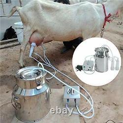 S Smautop 7l Machine De Traite Électrique Pour La Pompe À Vide En Acier Inoxydable De Vache De Chèvre B