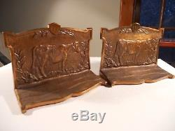 Serre-livres D'une Vache Ferme Laitière Publicité Perfection Milker Co. Laiton Ou Bronze