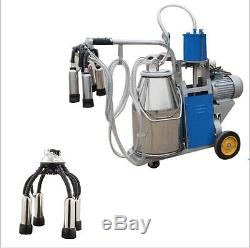 Seulement Etats-unis! Machine À Ordonner Électrique Milker Pour Les Vaches Agricoles + Godet En Acier Inoxydable