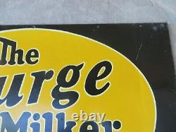 The Surge Milker Babson Bros Chicago Farm Antique Adv Signe Cow Dairy 16.25x11.25