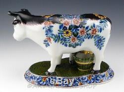 Tichelaar Makkum Figurine En Faïence De Delftware Grande Vache Et Lait Salle De Travail Lait Menthe