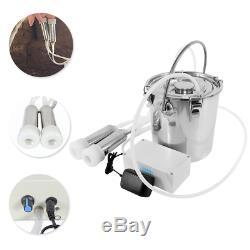 Traire 5l Électrique Portable Machine Robuste Aspiration Milker Réservoir Pour Le Bétail De Vache