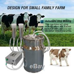 Traire La Vache Machine, Hantop Automatique Pulsating Pompe À Vide Milker 7l Bucket