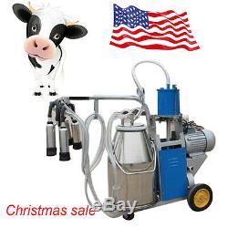 Trayeur Électrique À Piston Pompe À Vide Pour La Vache Machine Traire Ferme Bucket 550w 25l