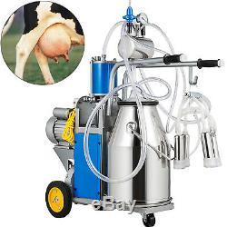 Trayeuse Électrique Milker Machine 1440 RPM 5-8 Vaches / H Double Poignées