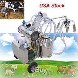 Trousse De Machine À Traire De Lait De Vache Laitière Des États-unis + Réservoir De Seau De Réservoir De Deux Seaux 110v