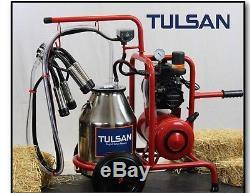 Tulsan, Machine À Traire De Vache, Système De Traite Électrique Portatif Complet Avec Des Roues