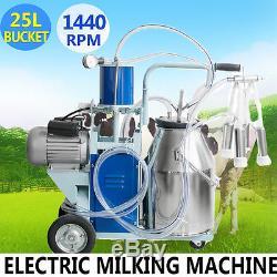 USA Machine À Ordonner Électrique Vaches À La Ferme Avec Pompe À Piston À Vide 25l Automatique