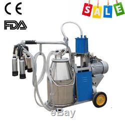 USA Machine À Traire Électrique Milker Vacuum Pour Les Vaches De Ferme 25l Seau Métallique Meilleur
