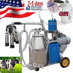 USA Seller-25l Milker Machine À Traire À Piston Électrique Réglable Pour Seau À Vaches
