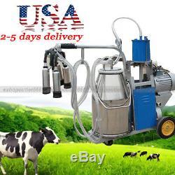USA Vendeur-25l Trayeuse Électrique À Piston Réglable Pour Machine À Traire Les Vaches Bucket