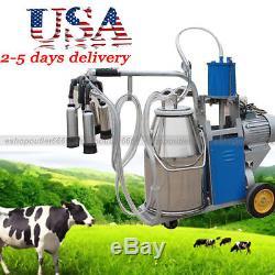 Unité De Traite Électrique 25l Milker Pour La Ferme Cows Bucket Cattle Dairyusa Vendeur