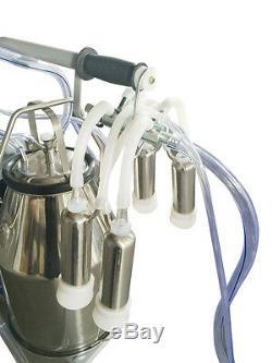 Us 64 / Min Vache Laitiere Électrique Machines À Traire Milker Pompe À Piston Débusqueuse