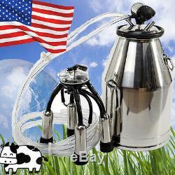 Us Portable Ss Vache Laitière Machine Milker Seau Traire Baril Réservoir Pour Fermier Ce
