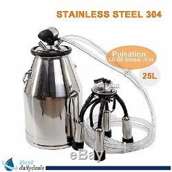 Us Stock Portable Cow Milker Milking Bucket Tank Barrel 304 Stainless Steel Nouveau