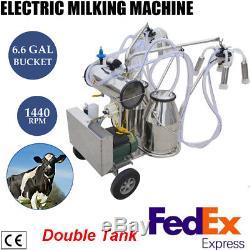 Usasafty Utilisation Milker Pompe À Vide Sans Huile Pour Les Vaches -double Tank-factory Direct