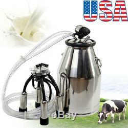 Usportable Inoxydable Machine & Traire Vache Laitière Milker Seau Barrel Réservoir