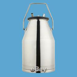 Usps! 304 Portable Vache Laitière Machine Milker Seau Traire Réservoir Barrel Grand 25l