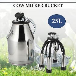 Vache Laitière Milker Machine Seau Réservoir Traire Baril En Acier Inoxydable 25l