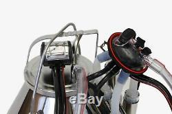 Vache Melasty Portable Seau Trayeur En Acier Inoxydable Avec Revêtement En Silicone 8 Gal