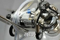 Vache Milker Ss - Base Mobile Oilless - Pompe À Vide - Régulateur À Godet En Acier Inoxydable De 10 Litres