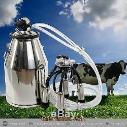 Vache Portable Milker Seau En Acier Inoxydable Traire Baril Réservoir Récent