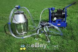 Vaches En Train De Traire 5,3 Us Gal Machine De Traite Électrique En Acier Inoxydable Bucket Milker + Extras