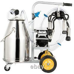 Vevor Électrique Machine Milker Machine Traire 25l, Traite Des Vaches Machine 5-8cows / H