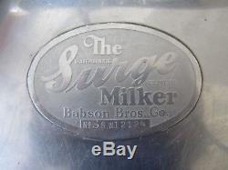 Vintage Babson Bros L'outil De L'agriculture En Acier Inoxydable D'acier Inoxydable