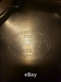Vintage Babson Bros The Surge Milker - Traqueur De Vache Laitière En Acier Inoxydable Avec Pulsateur