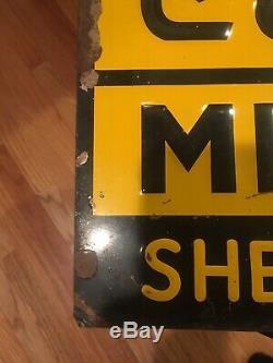 Vintage Conde Pipeline Milker Signe En Métal Gaufré Vache À La Ferme Laitière Sherrill Ny