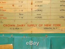 Vintage Crown Dairy Supply Vernon Ny Traire Machine De Nettoyage Guide Rod Box