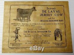 Vintage De Laval Cream Separator Milker Tin Jersey Ensemble Vache & Mollet Excellent