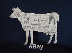 Vintage Delaval Vache Étain Publicité Signe Crème Séparateur Et Milker