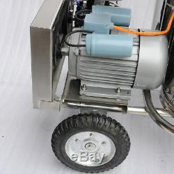 Vwe Farm Vache Laitière Bovins Machine À Traire Machine Kit Deux Seau Réservoir Baril 110v